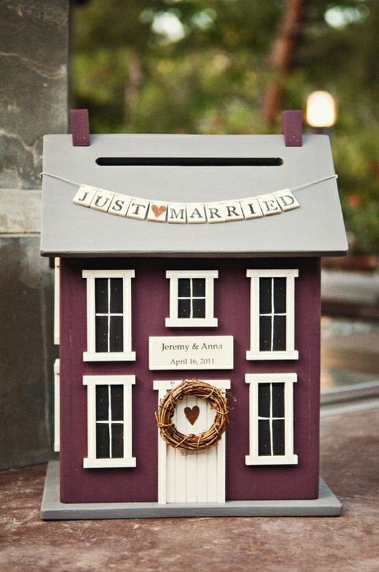 Wedding card house box