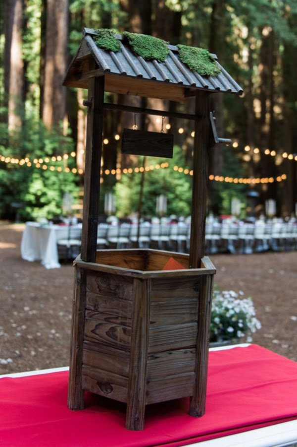 Wishing well wedding box diy