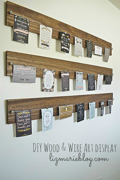 Wood and wire diy photo display