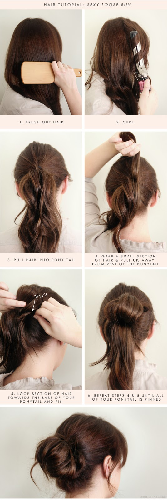 3 sexy loose bun hair tutorial