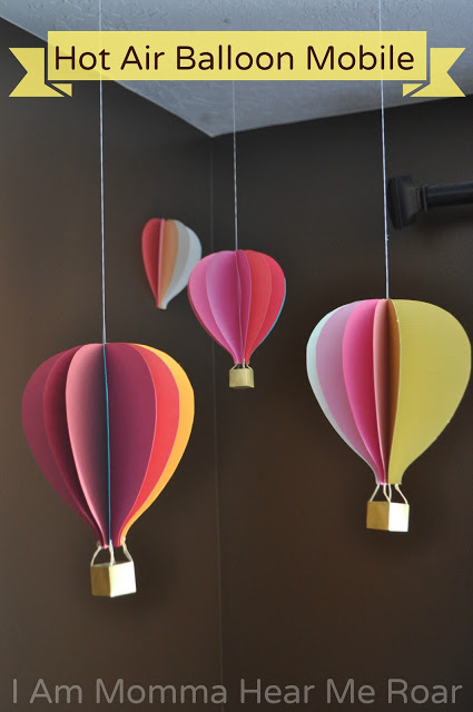 3d layers hot air balloon