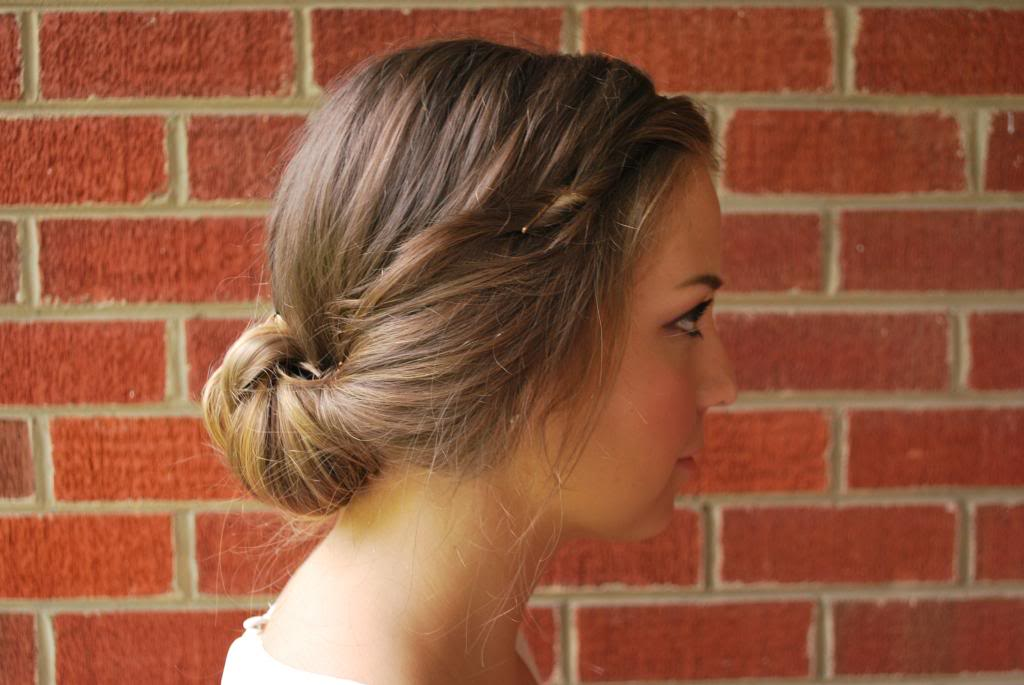 5 minute updo long hairdo