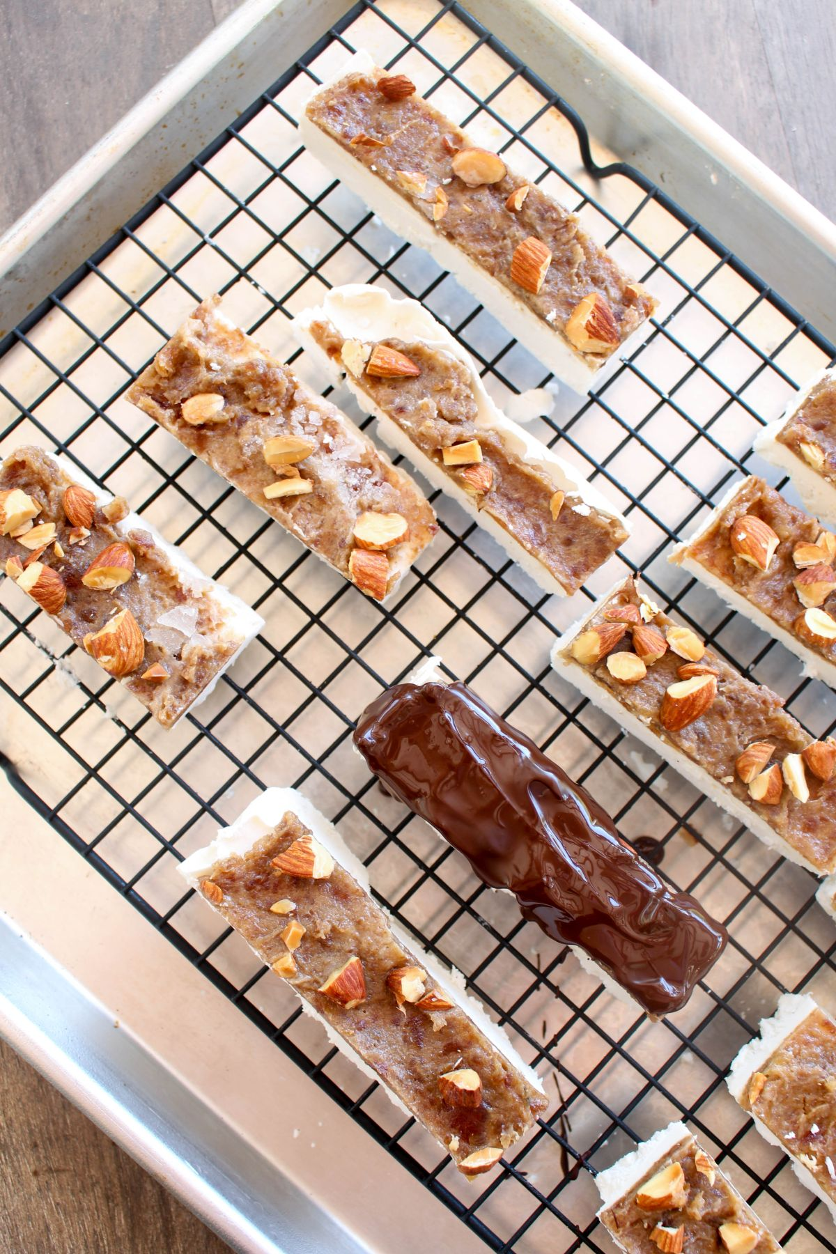 Almond snickers ice cream bars recipe