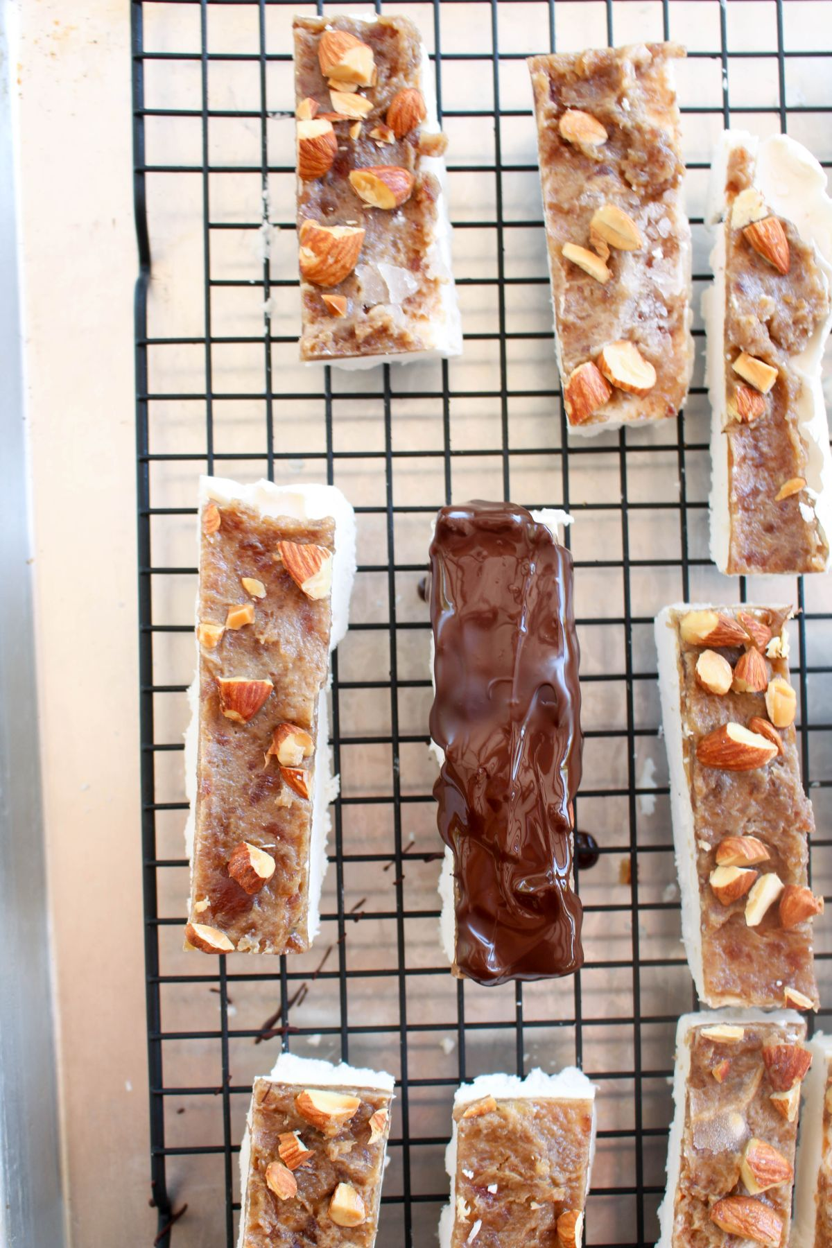 Almond snickers ice cream bars serve