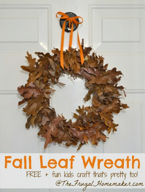 Autumn leaf door wreath