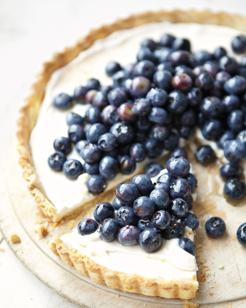Blueberry ricotta tart