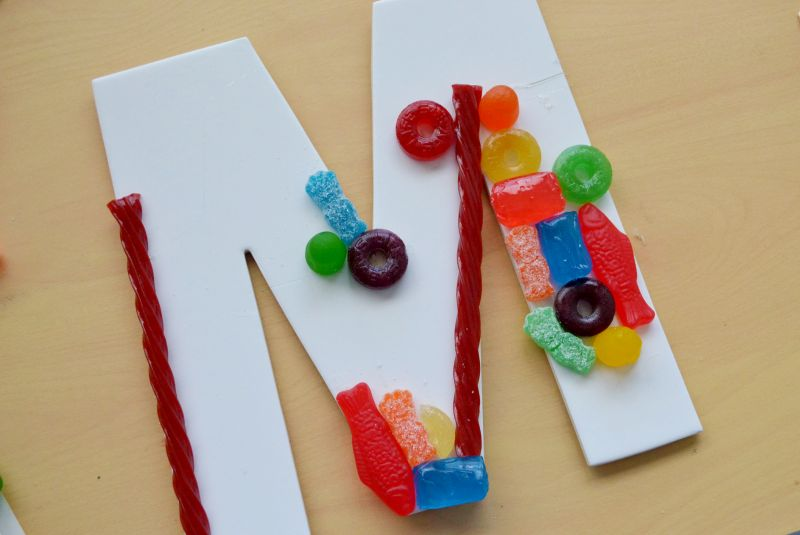 Candy party sign letter