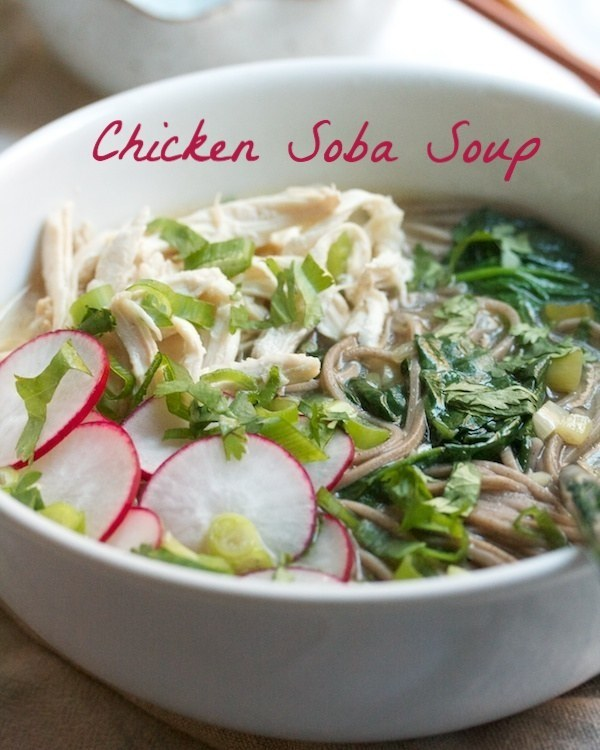Chicken soba soup