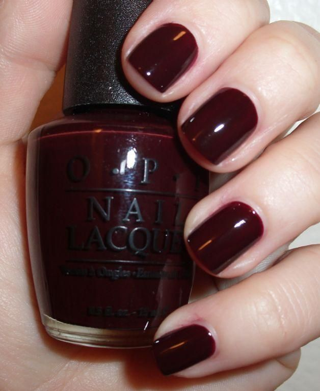 Chocolate cranberry nails