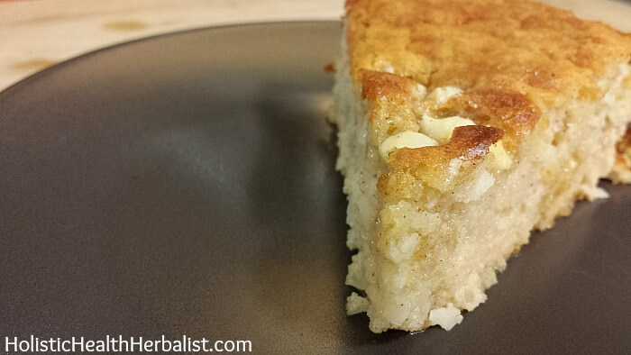 Cinnamon coconut custard cake