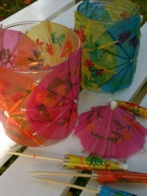 Cocktail umbrella glasses