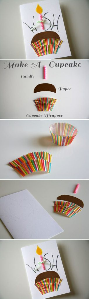 Cupcake wrapper card