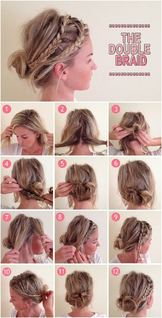 Cute everyday hairstyles tutorials double braids
