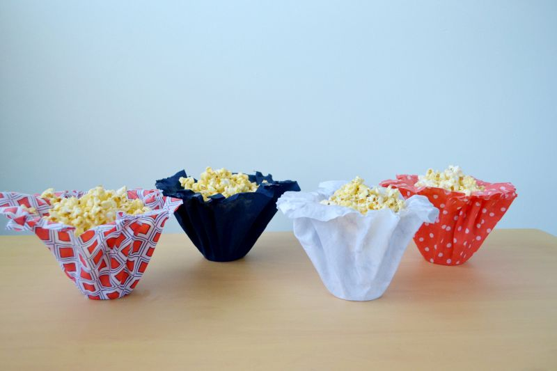 Diy fabric snack cups