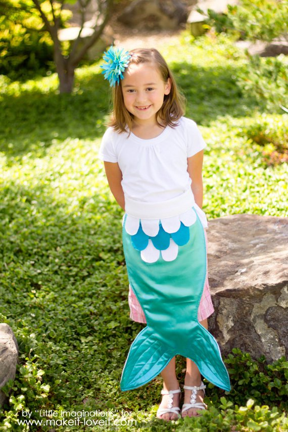 Diy mermaid tail and seashell top 3