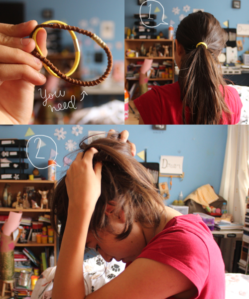Diy messy bun by monicutte for the first lime com