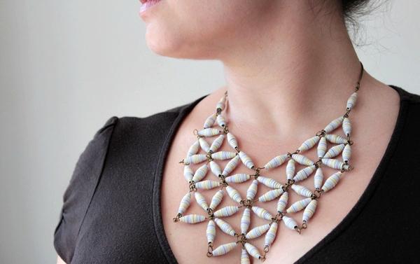 Designer style geo necklace jpf