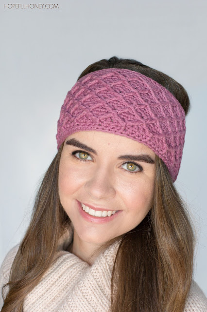 Diamond trellis headband tutorial pattern