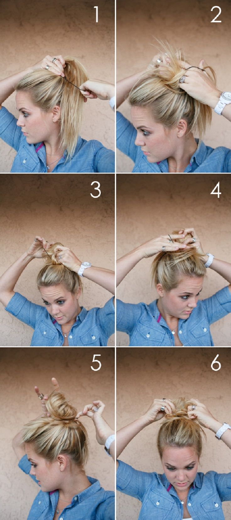 Diy fat messy bun