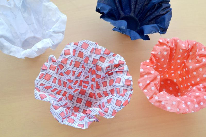 Fabric snack cups craft