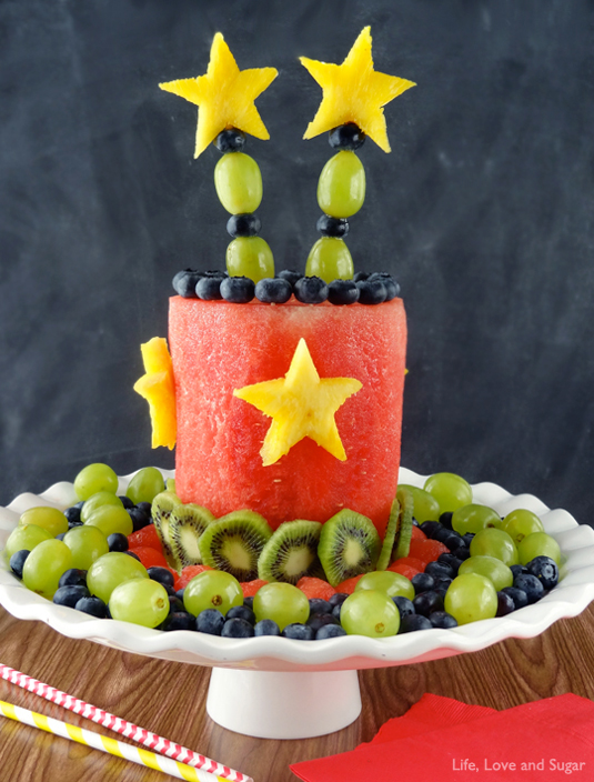 Fruit party cake