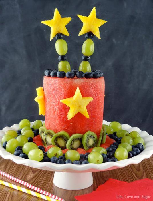 Fruit party cake