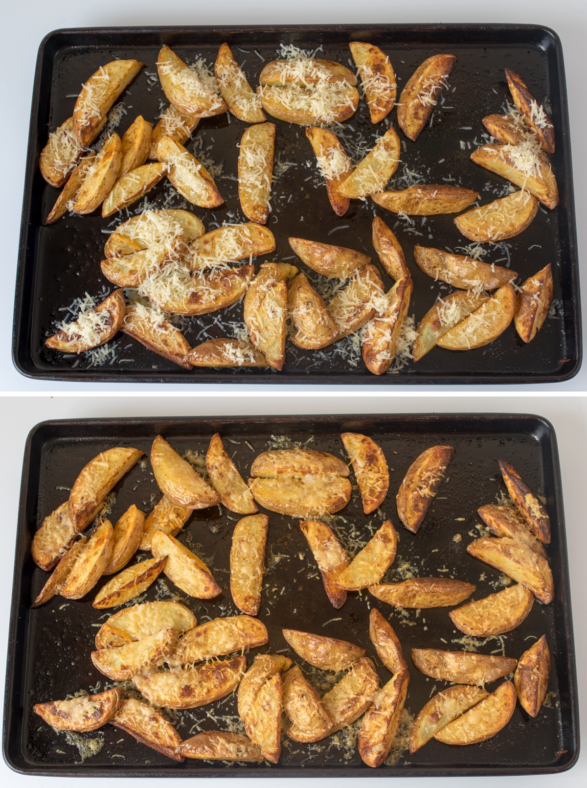 Garlic parmesan potato wedges with special sauce step3 collage