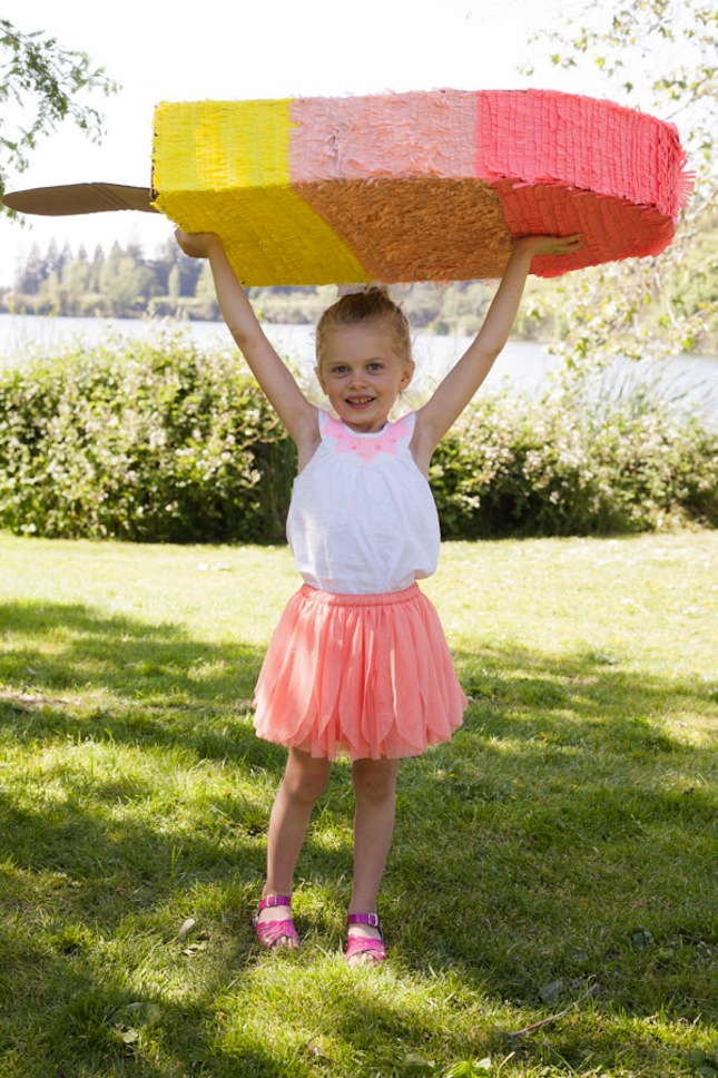Giant popsicle pinata