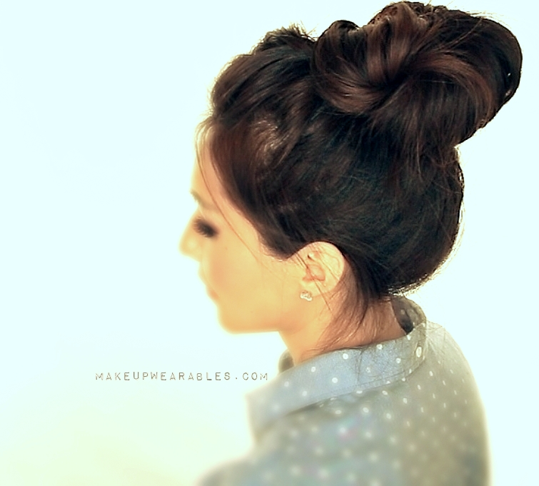 Hair bun hairstyle tutorial for school wedding prom bridal everyday style