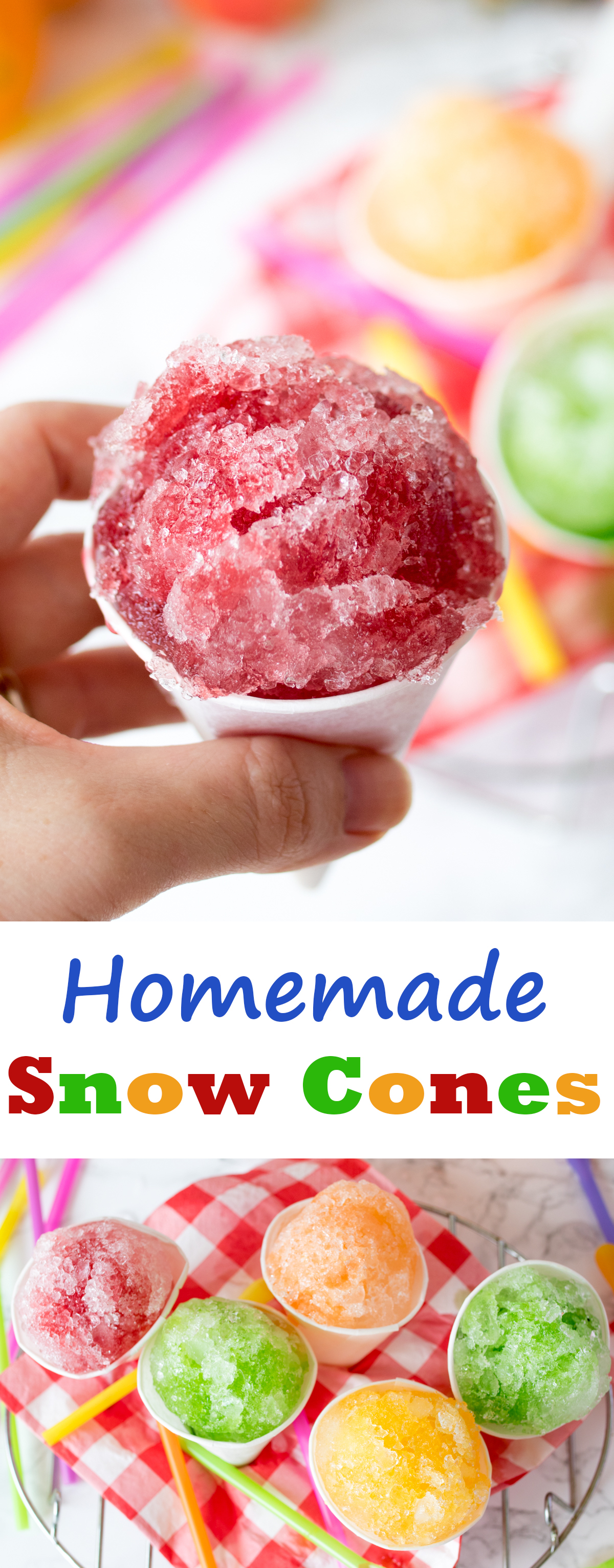 Fruit Snow Cones - so simple to make at home!
