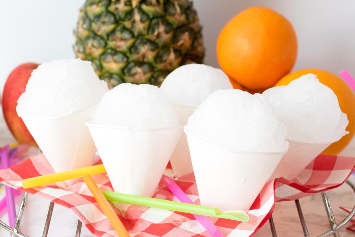 Homemade snow cones
