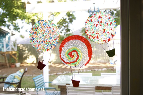Hot air balloon bead sun catchers