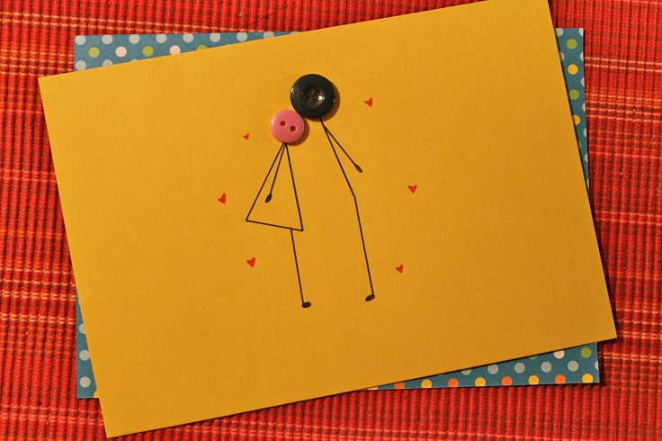 Kissing buttons cards