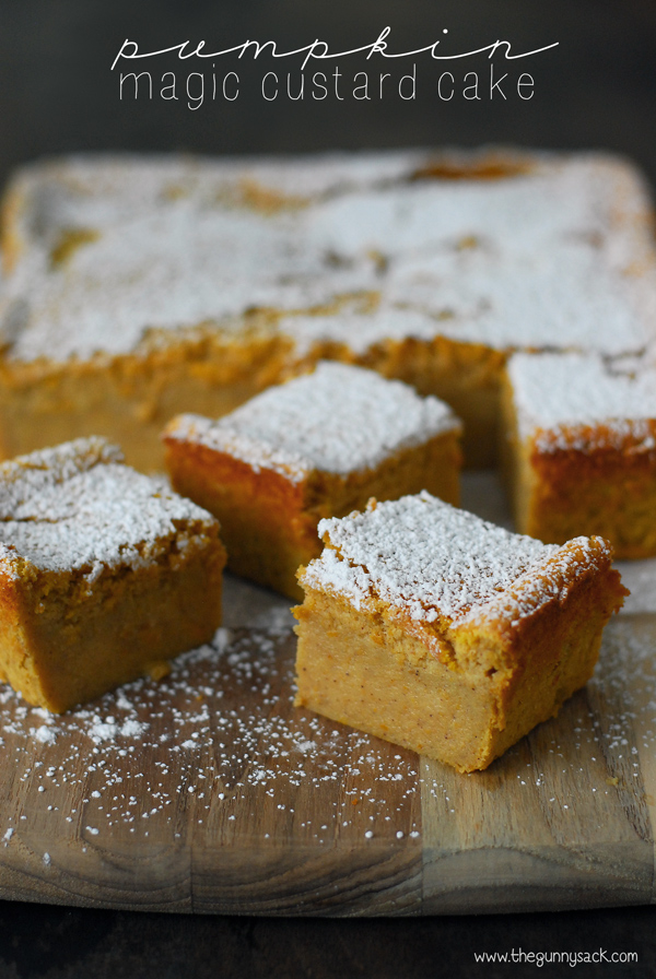 Magic custard pumpkin cake recipe