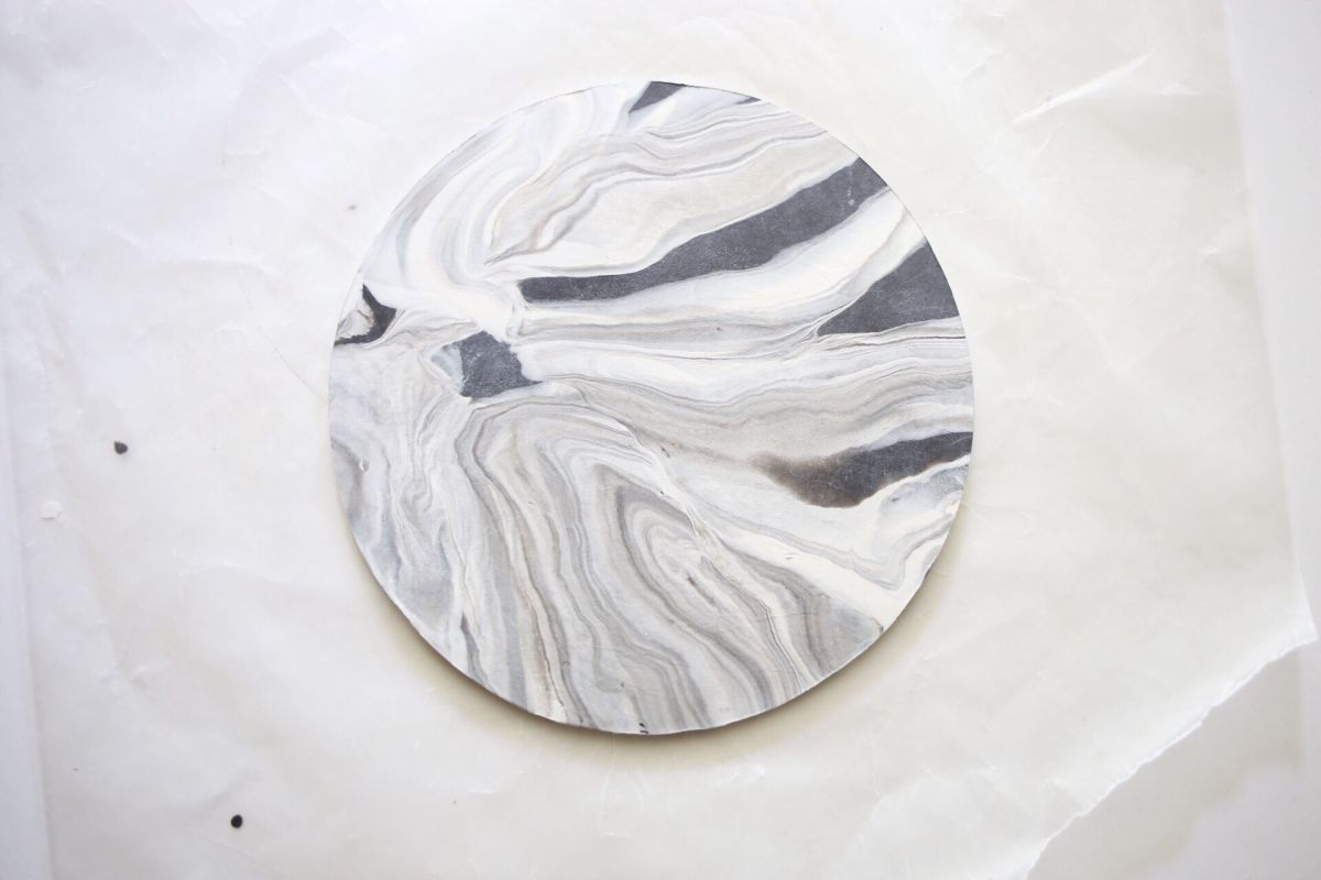 Marble jewelry dish step 5