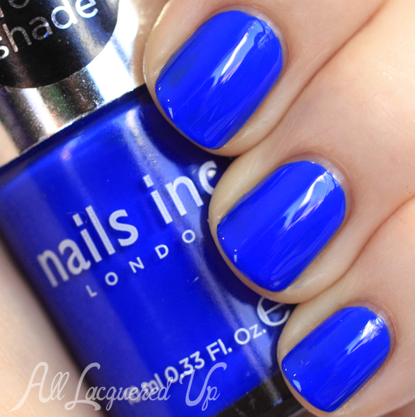 Nails inc baker street swatch cobalt blue