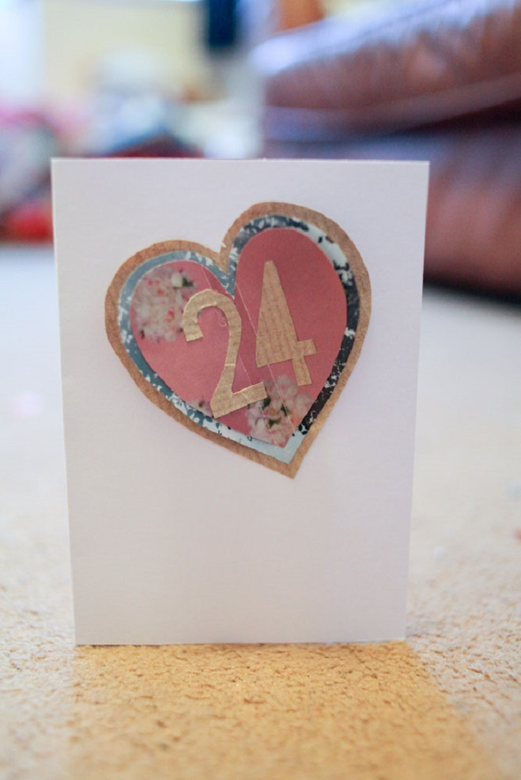 Paper cutout age card