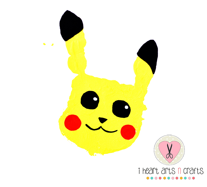 Pikachu handprint diy