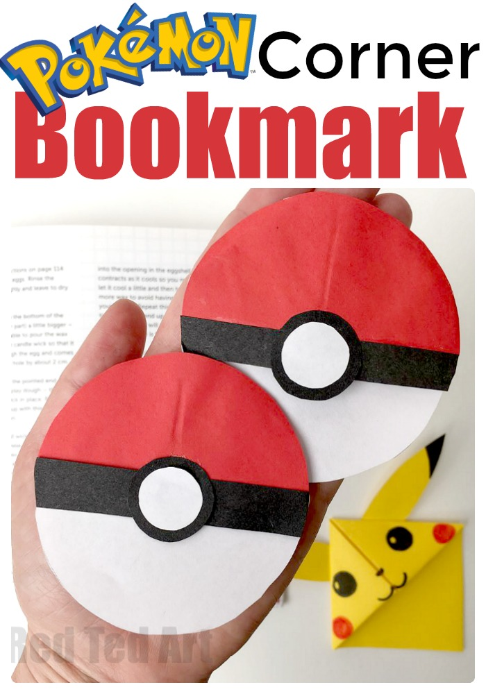 Pokemon corner bookmark for pokemon go fans