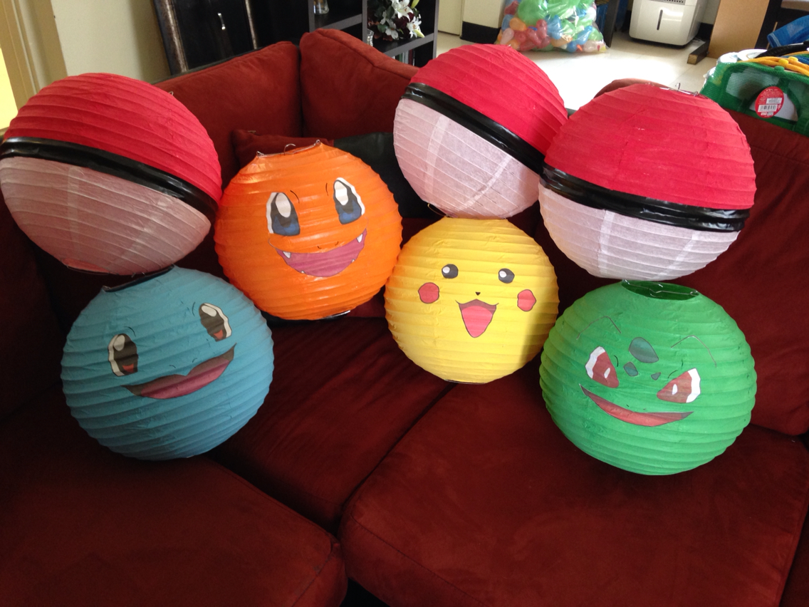 Pokemon lanterns great pokemon party decoration