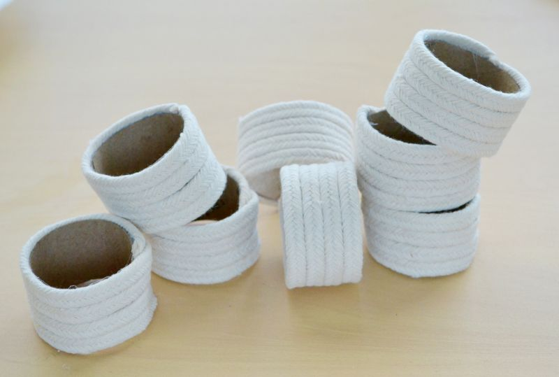Roped napkin rings craft