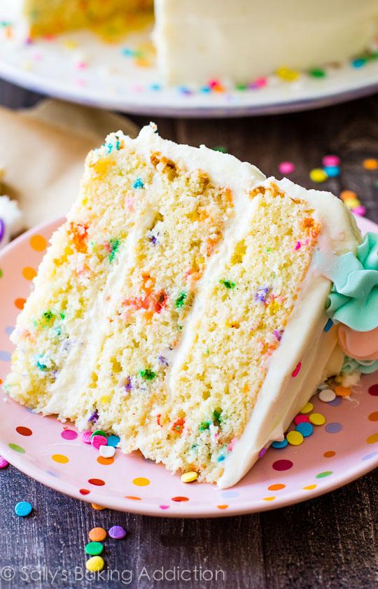 Sallys baking addiction recipe funfetti layer cake