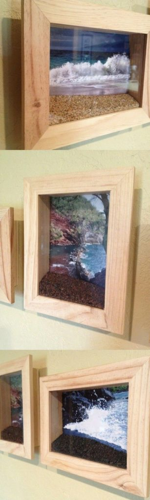 Sand and photo shadow box