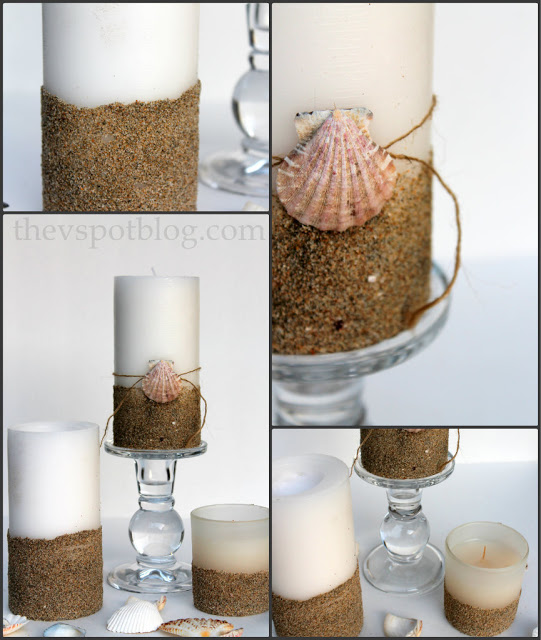 Sandy pillar candles