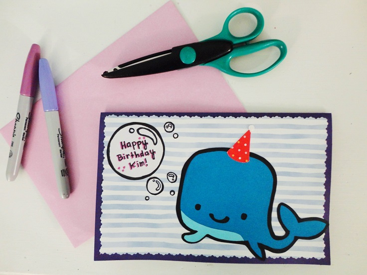 Sharpie Whale Card