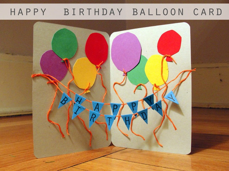 Birthday Card Making Ideas Part - 22: String Balloon Card
