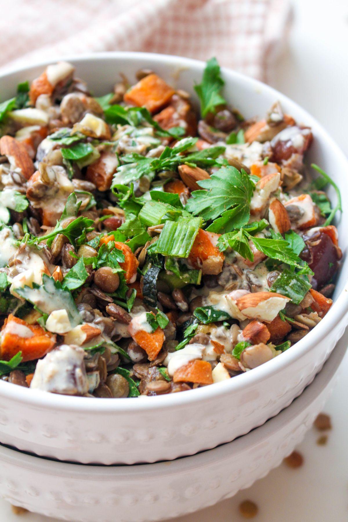 Summer moroccan lentil salad