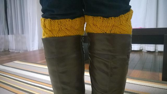Sunflower boot cuffs