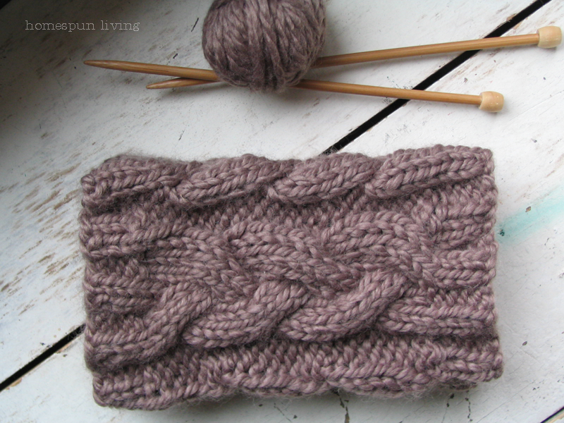 Thick cable knit boot cuff