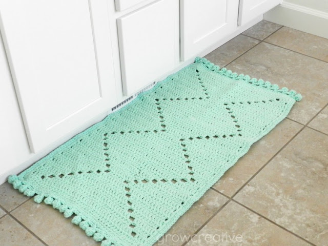 Aztec style crochet rug